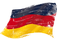 German flag grunge. flag of  Germany in the wind with a texture