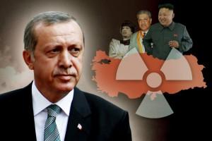 Der türkische Präsident Erdogan will sein Land zur Großmacht ausbauen. Ansehensgewinn durch Nuklearwaffen ist auch eine Strategie von Nordkoreas Kim Jong-un (r.) und des früheren libyschen Diktators Gaddafis (3. v. r.). Schlüsselfigur bei Nuklear-Deals ist der Pakistaner A.Q. Khan (M.) (Foto: Infografik Die Welt)