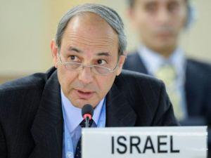 Ambassador Eviatar Manor addresses the UN Human Rights Council (Copyright: Israel Mission to the UN, Geneva)