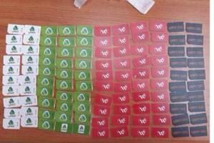 SIM-Karten beschlagnahmt. (IPS Sprecher)