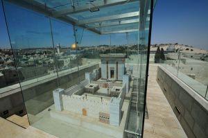 Foto: Ein Modell des Dritten Tempels in Jersalem