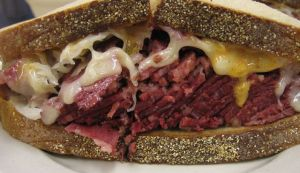 A Reuben sandwich. Photo by Ernesto Andrade/Wikimedia Commons