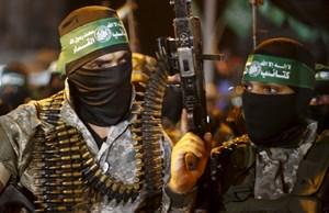 Hamas bei einem Aufmarsch in Gaza