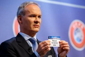 FUSSBALL, AUSLOSUNG, ZIEHUNG, QUALIFIKATION, QUALIFIKATIONSPHASE, UEFA CHAMPIONS LEAGUE, SAISON 2015/16,