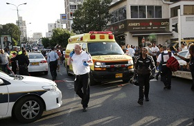 Scene of stabbing attack in Rishon Lezion, Nov 2, 2015