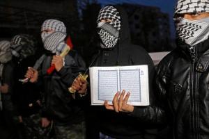 Palestinian Maram Hasona's funeral in Nablus
